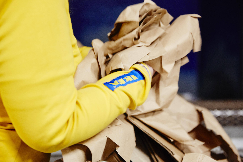 Ikea planche sur le recyclage et la réduction de ses déchets